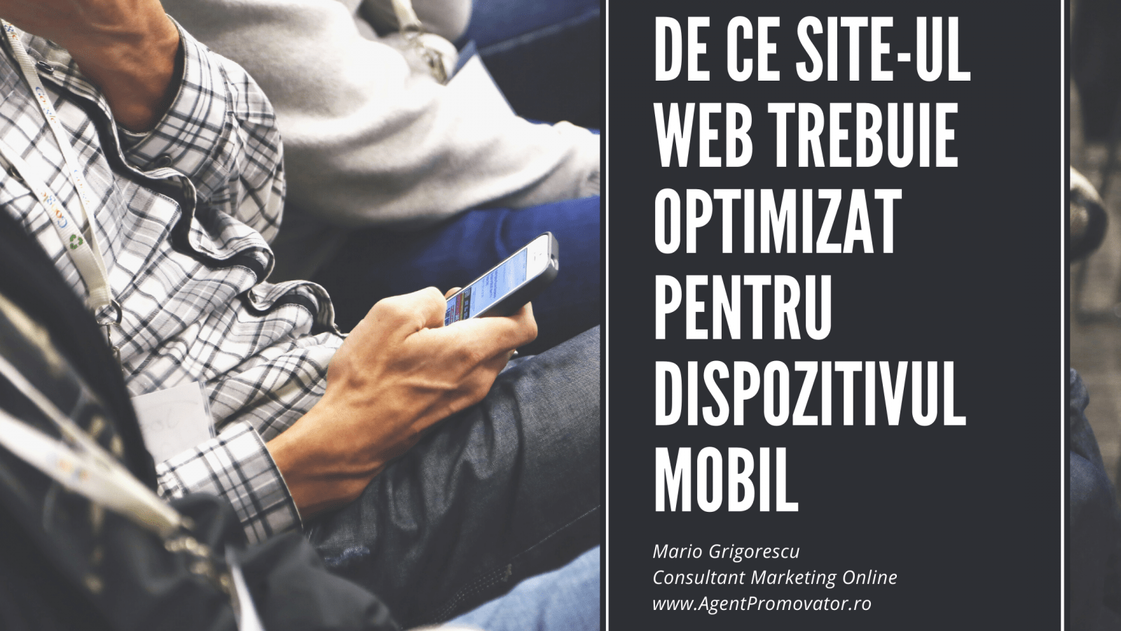 site web optimizat mobil